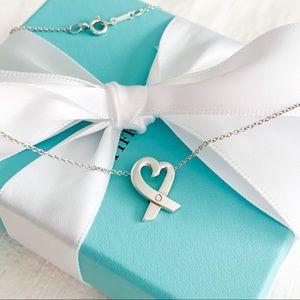 Tiffany & Co. Elsa Peretti Loving Heart Diamond Pe